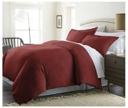 Beckham Luxury linens 3 piece duvet cover set with two pillo