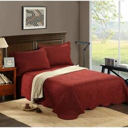 Marsala Autumn 3 Piece Reversible Quilted Coverlet Set by Ta