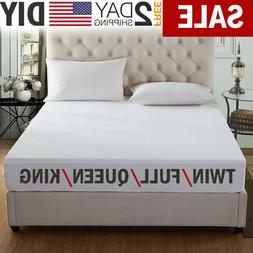 2PCS QUILTED MATTRESS PROTECTOR TOPPER LUXURY FITTED COVER FULL KING CK SIZE RE