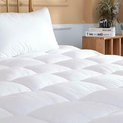 Mattress Pad Cover Topper Protector Quilted Fitted King Quee