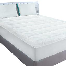 Fleece Mattress Pad Quilted Fitted Mattress Pad Stretches up