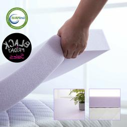 3 Inch Memory Foam Mattress Topper Lavender Dot Bed Full Que