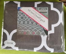 Microfiber Duvet Cover Printed with 2 Pillow Shams Utopia Be