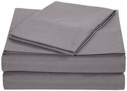 AmazonBasics Microfiber Sheet Set - Twin Extra-Long, Dark Gr