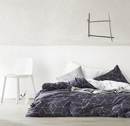 Eikei Home Minimal Style Geometric Shapes Duvet Quilt Cover