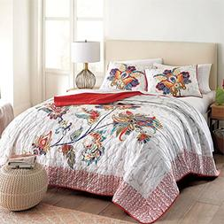 Brylanehome Miranda 3-Pc. Floral Quilt Set