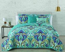 Avondale Manor Misha Quilt Set, Queen, Mint