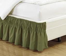 Mk Collection Wrap Around Style Easy Fit Elastic Bed Ruffles