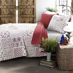 Lush Decor Lush Décor Monique 3Piece Quilt Set, Full/Queen,