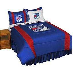 NHL New York Rangers 5pc Bed in a Bag Queen Bedding Set