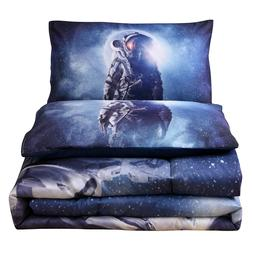 Outer Space Astronaut Bedding Sets Queen Size Comforter Set