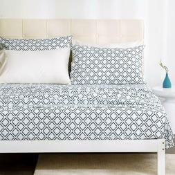 pattern queen sheets printed bed sheet set