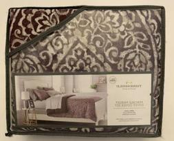 Threshold Percale Paisley Purple Full Queen Duvet Cover And
