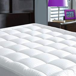 JURLYNE Pillowtop Mattress Pad Cover Queen Size - Hypoallerg