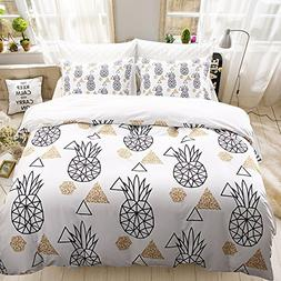 dream_home Pineapple Duvet Cover Sets Polyester - US Size Qu