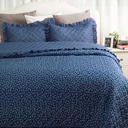 Printed Quilt Coverlet Set Twin Size  2-Piece Bed Cover Smal