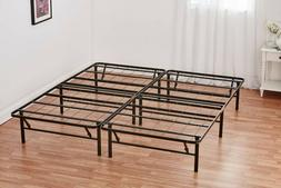 Queen Box Spring Replacement Metal Platform Bed Frame Size M