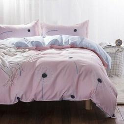 Uozzi Bedding Queen Duvet Cover Set Pink Floral 3 Pieces (1