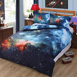 Alicemall Queen Size Galaxy Bedding Sets Outer Space Home Te
