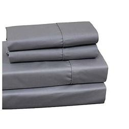 Royal Hotel Queen Gray 650-Thread-Count Solid Sheet Set, Cot