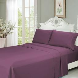 Queen Size Bamboo Bed Sheets Set 6 PCS Deep Pocket - Ultra S