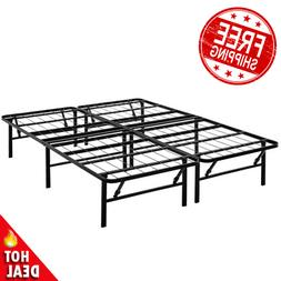 QUEEN Size Platform Bed Frame 14 Inch Mattress Steel Foundat