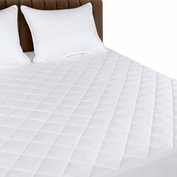 """Quilted Fitted Mattress Pad Cover Up To 16"""" Deep Utopia Bedd"""