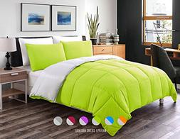 Luxe Bedding 3-PCS Reversible Down Alternative Quilted Duvet