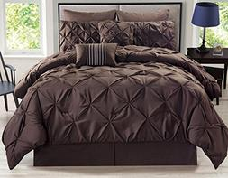 rochelle pinched pleat coffee comforter