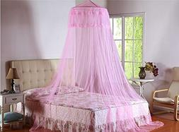 Round Hoop Canopy Netting Mosquito Net for Bed with Free Hoo