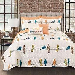 Rowley Birds 7 Piece Quilt Set by Lush Decor