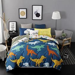 Sandyshow 3PC Dinosaur Bedding For Boys And Girls Full/Queen