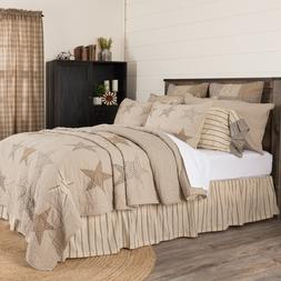SAWYER MILL STAR QUILT -choose size & accessories-farmhouse