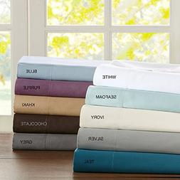300TC Liquid Cotton King Bed Sheets, Casual Silk Cotton Bed