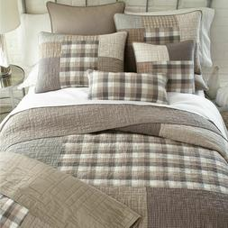 SMOKY SQUARE Quilts & Accessories - Farmhouse Country Beddin