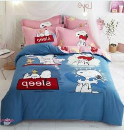 NEW Snoopy 100%Cotton Best Collection Cartoon Duvet Cover Be