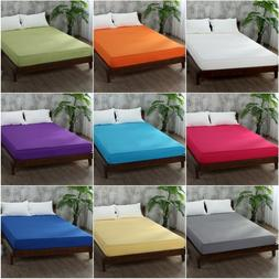 Bed Fitted Sheet Elastic Sheets Polyester & Cotton Single Tw