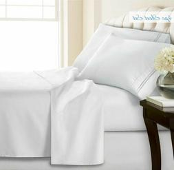 Soft Bed Sheets Set 4 Piece Deep Pocket Queen King Full Twin