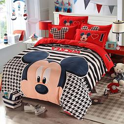 Hmlover Soft Polyester Cartoon 3D Print Bedding Set 4pcs,Dur