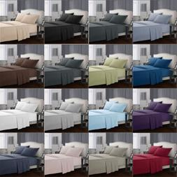 Solid Solid color Bedding Set Flat Sheets With Pillow Case T