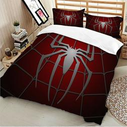 Spider Red Duvet Cover Set For Comforter Twin/Queen/King Siz