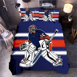 Sport Printed <font><b>Bedding</b></font> Sets Ice Hockey Du