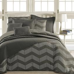 Comfy Bedding Spot Chevron Microfiber 8-Piece Comforter & Co