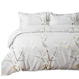 Bedsure Spring Bloom Pattern Bedding Set Full/Queen  Duvet C