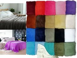 Sumptuous Light Winter Blanket Soft Throw 20 Solid Colors Al