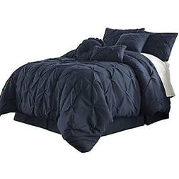 "Sydney 7-Piece Pintuck Bedding Comforter Set  Home "" Kitchen"
