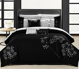 Perfect Home Sydney 12-piece Embroidered Comforter Set Queen