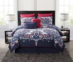 VCNY Teal Istanbul 5-Piece Queen Quilt Set, Blue