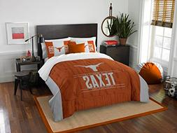 Texas Longhorns - 3 Piece FULL / QUEEN SIZE Printed Comforte