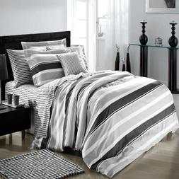 North Home Trenton 4-Piece Duvet Cover Set, Queen